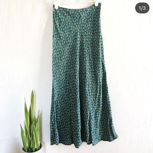 Vintage Floral Teal Skirt
